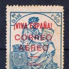 Sellos: BURGOS FISCALES 1936 SOBRECARGA VIVA ESPAÑA AEREO EDIFIL 21 NUEVO(*) VALOR 2011 CATALOGO 6.50 EUROS. Lote 29238305