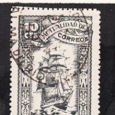 Sellos: ,,BENEFICENCIA MUTUALIDAD CORREOS 112 USADA, -BARCO-, CATALOGO GALVEZ, . Lote 165496484
