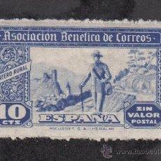 Sellos: ,,BENEFICENCIA ASOCIACION BENEFICA CORREOS 101 CON CHARNELA, CATALOGO GALVEZ, CORREO RURAL, CARTERO. Lote 29604878