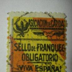 Sellos: GRANADA ASOCIACION DE CARIDAD 5 CTMOS USADO VIÑETA. Lote 29272443