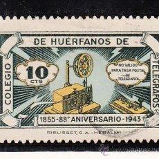 Sellos: ,,BENEFICENCIA HUERFANOS TELEGRAFOS 44 USADA, CATALOGO GALVEZ . Lote 29579950