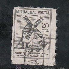 Sellos: ,,BENEFICENCIA MUTUALIDAD POSTAL 20 CTS. -MOLINOS- TAMAÑO REDUCIDO USADA, CATALOGO GALVEZ. Lote 29593031
