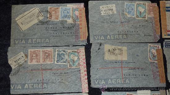Sellos: Lote 21 sobres de paises extranjeros a españa durante la guerra civil. censuras, por avion, raros! - Foto 22 - 29354046