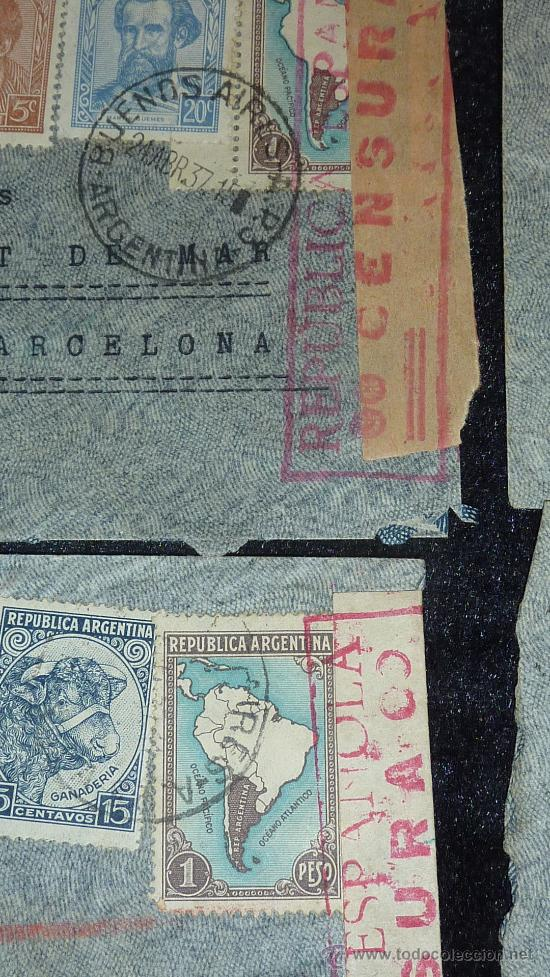 Sellos: Lote 21 sobres de paises extranjeros a españa durante la guerra civil. censuras, por avion, raros! - Foto 24 - 29354046