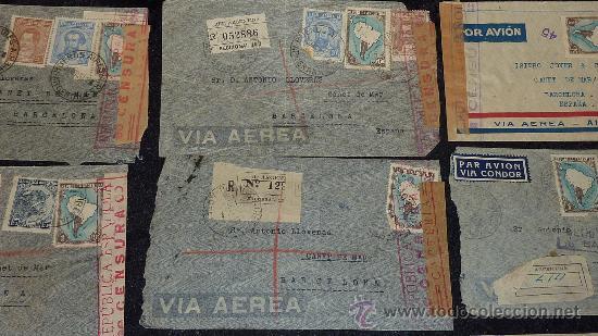 Sellos: Lote 21 sobres de paises extranjeros a españa durante la guerra civil. censuras, por avion, raros! - Foto 25 - 29354046
