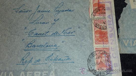 Sellos: Lote 21 sobres de paises extranjeros a españa durante la guerra civil. censuras, por avion, raros! - Foto 27 - 29354046