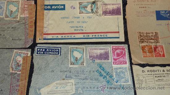 Sellos: Lote 21 sobres de paises extranjeros a españa durante la guerra civil. censuras, por avion, raros! - Foto 28 - 29354046