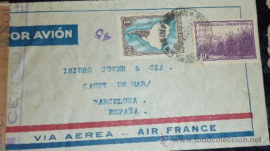 Sellos: Lote 21 sobres de paises extranjeros a españa durante la guerra civil. censuras, por avion, raros! - Foto 17 - 29354046
