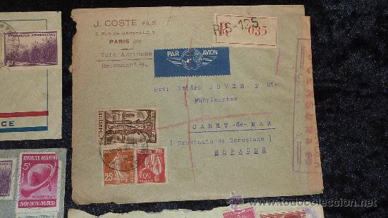 Sellos: Lote 21 sobres de paises extranjeros a españa durante la guerra civil. censuras, por avion, raros! - Foto 15 - 29354046