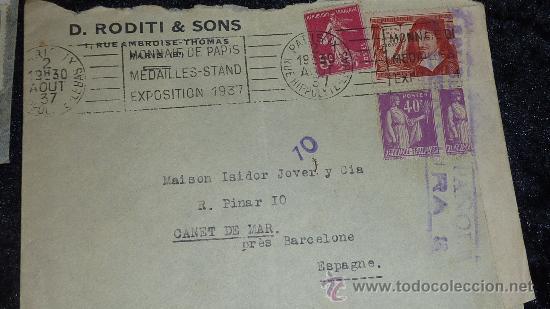Sellos: Lote 21 sobres de paises extranjeros a españa durante la guerra civil. censuras, por avion, raros! - Foto 12 - 29354046