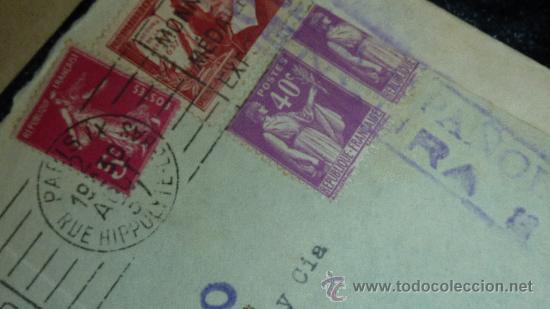 Sellos: Lote 21 sobres de paises extranjeros a españa durante la guerra civil. censuras, por avion, raros! - Foto 13 - 29354046