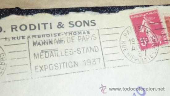 Sellos: Lote 21 sobres de paises extranjeros a españa durante la guerra civil. censuras, por avion, raros! - Foto 14 - 29354046