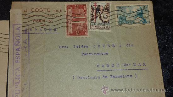 Sellos: Lote 21 sobres de paises extranjeros a españa durante la guerra civil. censuras, por avion, raros! - Foto 10 - 29354046