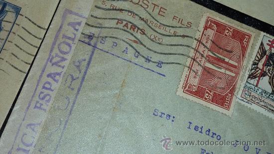 Sellos: Lote 21 sobres de paises extranjeros a españa durante la guerra civil. censuras, por avion, raros! - Foto 11 - 29354046