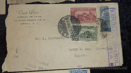 Sellos: Lote 21 sobres de paises extranjeros a españa durante la guerra civil. censuras, por avion, raros! - Foto 8 - 29354046