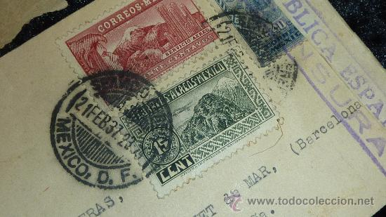 Sellos: Lote 21 sobres de paises extranjeros a españa durante la guerra civil. censuras, por avion, raros! - Foto 9 - 29354046