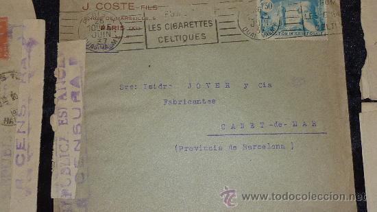 Sellos: Lote 21 sobres de paises extranjeros a españa durante la guerra civil. censuras, por avion, raros! - Foto 6 - 29354046