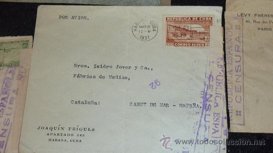 Sellos: Lote 21 sobres de paises extranjeros a españa durante la guerra civil. censuras, por avion, raros! - Foto 20 - 29354046