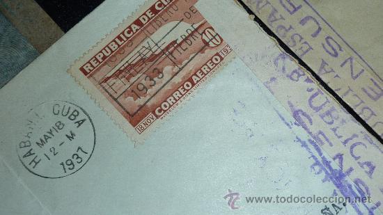 Sellos: Lote 21 sobres de paises extranjeros a españa durante la guerra civil. censuras, por avion, raros! - Foto 21 - 29354046