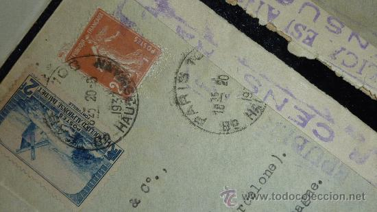 Sellos: Lote 21 sobres de paises extranjeros a españa durante la guerra civil. censuras, por avion, raros! - Foto 30 - 29354046