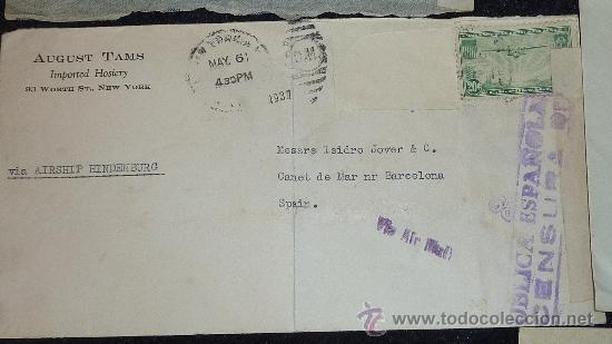 Sellos: Lote 21 sobres de paises extranjeros a españa durante la guerra civil. censuras, por avion, raros! - Foto 33 - 29354046