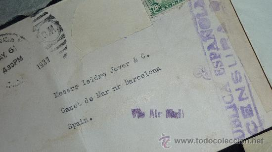 Sellos: Lote 21 sobres de paises extranjeros a españa durante la guerra civil. censuras, por avion, raros! - Foto 34 - 29354046