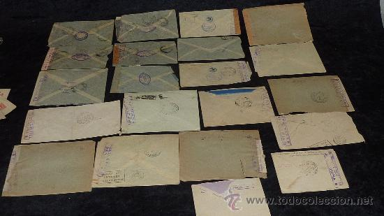 Sellos: Lote 21 sobres de paises extranjeros a españa durante la guerra civil. censuras, por avion, raros! - Foto 35 - 29354046