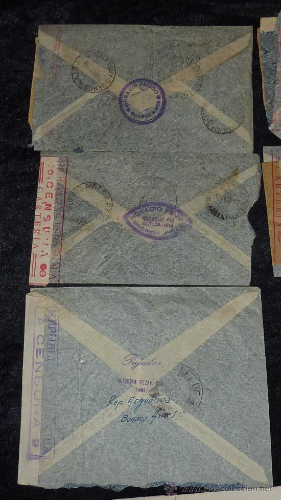 Sellos: Lote 21 sobres de paises extranjeros a españa durante la guerra civil. censuras, por avion, raros! - Foto 36 - 29354046