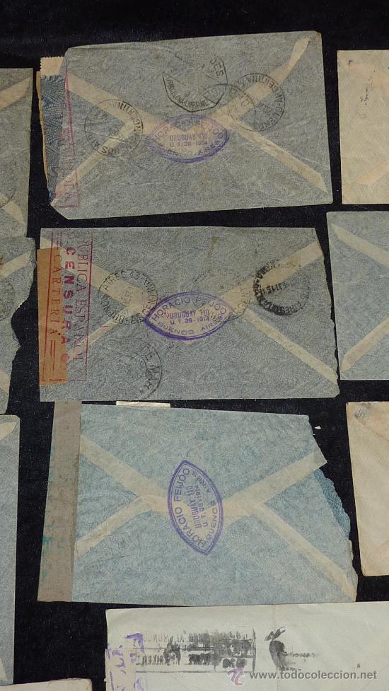 Sellos: Lote 21 sobres de paises extranjeros a españa durante la guerra civil. censuras, por avion, raros! - Foto 37 - 29354046