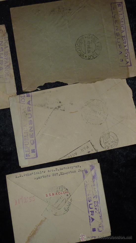 Sellos: Lote 21 sobres de paises extranjeros a españa durante la guerra civil. censuras, por avion, raros! - Foto 40 - 29354046