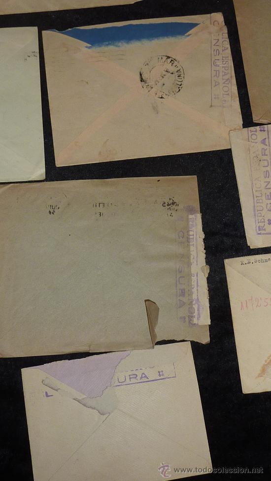 Sellos: Lote 21 sobres de paises extranjeros a españa durante la guerra civil. censuras, por avion, raros! - Foto 41 - 29354046