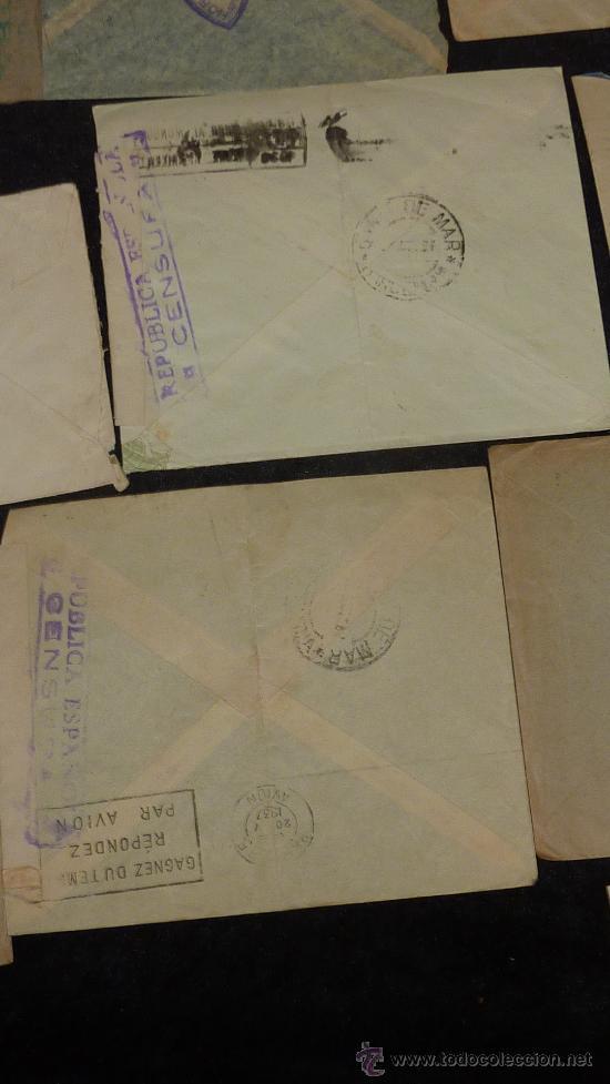 Sellos: Lote 21 sobres de paises extranjeros a españa durante la guerra civil. censuras, por avion, raros! - Foto 42 - 29354046
