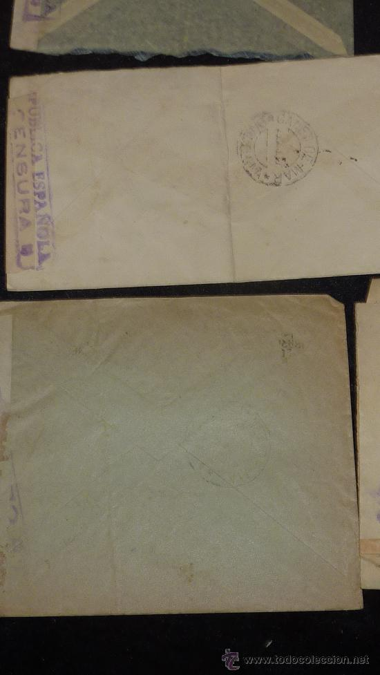 Sellos: Lote 21 sobres de paises extranjeros a españa durante la guerra civil. censuras, por avion, raros! - Foto 43 - 29354046