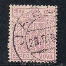 Sellos: ,,FISCAL TIMBRE ESPECIAL MOVIL 32A USADA CORREOS, 20 CTS. LILA . Lote 30265943