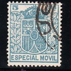 Sellos: ,,FISCAL TIMBRE ESPECIAL MOVIL 28 USADA CORREOS, 5 CTS. AZUL . Lote 30266148