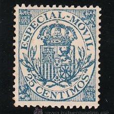 Sellos: ,,FISCAL 142 ESPECIAL MOVIL 1922 CATALOGO GALVEZ 1960 SIN GOMA 25 CTS. AZUL CLARO . Lote 30295289