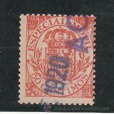 Sellos: ,,FISCAL 136 TIMBRE MOVIL 1908 CATALOGO GALVEZ 1960 USADA 50 CTS. NARANJA . Lote 30295357