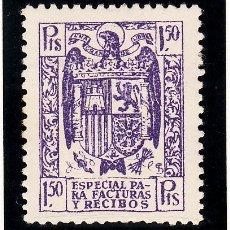 Sellos: ,,FISCAL 365 ESPECIAL PARA FACTURAS Y RECIBOS 1939-45 CATALOGO GALVEZ 60 CON CHARNELA 1.50 PTS. VIOL. Lote 30322302