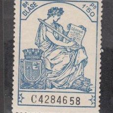 Sellos: ,,FISCAL POLIZA 1926-36 CLASE 8ª 1.50 PS. SIN CHARNELA, CORONA MURAL. Lote 30090995