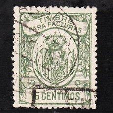 Sellos: ,,FISCAL FACTURAS (TIMBRE PARA) 15 CTS. USADA CORREOS, . Lote 30104941
