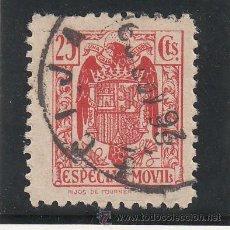 Sellos: ,,FISCAL TIMBRE ESPECIAL MOVIL 105 USADA CORREOS, 25 CTS. BERMELLON . Lote 30218560