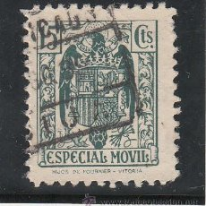 Sellos: ,,FISCAL TIMBRE ESPECIAL MOVIL 103 USADA CORREOS, 15 CTS. VERDE . Lote 30218603