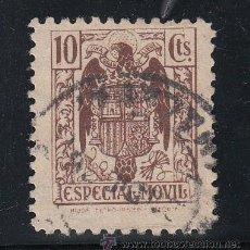 Sellos: ,,FISCAL TIMBRE ESPECIAL MOVIL 102 USADA CORREOS, 10 CTS. CASTAÑO. Lote 30234637