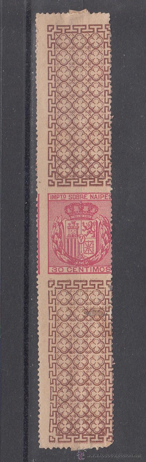 ,,FISCAL IMPUESTO SOBRE NAIPES 30 CTS. CON CHARNELA, CATALOGO GALVEZ 1923 (Sellos - España - Guerra Civil - Locales - Nuevos)