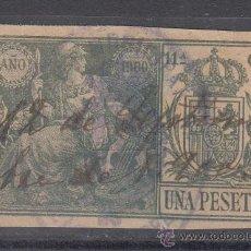 Sellos: ,,FISCAL POLIZA 1575 AÑO 1900 CLASE 11ª 1 PTAS. VERDE USADA, CATALOGO GALVEZ 1923. Lote 29817729