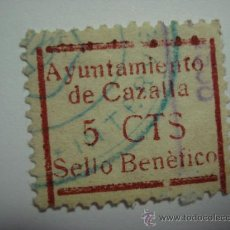 Sellos: CAZALLA DE LA SIERRA 5 CENTIMOS CASTAÑO USADO GUERRA CIVIL . Lote 29569225