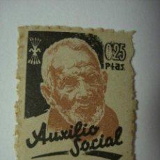 Sellos: AUXILIO SOCIAL RARO 25 CENTIMOS NUEVO CON GOMA GUERRA CIVIL . Lote 29569272
