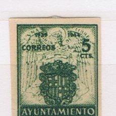 Sellos: AYUNTAMIENTO DE BARCELONA 1944 EDIFIL 57 VALOR 2011 CATALOGO 14 EUROS NUEVO * SIN DENTAR. Lote 29641565