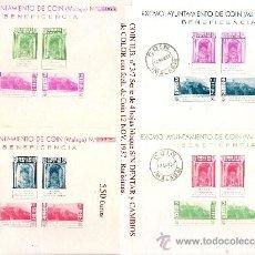 Sellos: 1937 EMISION EMITIDA EN COIN (MÁLAGA) H.B. Nº 3/7 VARIEDADES Y CAMBIOS DE COLOR MATASELLADAS. Lote 29408746