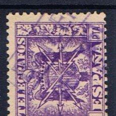 Selos: FECHADOR 1951 SOBRE SELLO TELEGRAFOS 1 PTS MATASELLADO BAILEN JAEN. Lote 29713205